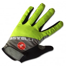2017 Cаstelli Fluo Grey-Yellow Thermal Long Gloves