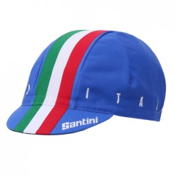 2017 Santini Italian Blue Cycling Cap