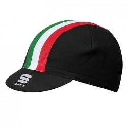 2017 Spоrtful Italian Flag Black Cycling Cap