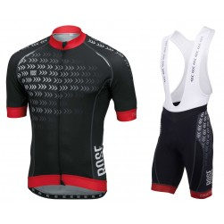 2016 Rose Race Pro Arrows Black Jersey And Bib Shorts Set