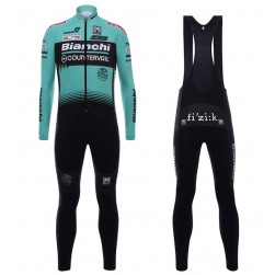 2017 Bianchi Countervail Green Long Sleeve Cycling Jersey And Bib Pants Set