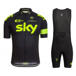 2016 Skу Team Fluo Edition Cycling Jersey And Bib Shorts Set