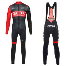 2017 GCN Team Pro Long Sleeve Cycling Jersey And Bib Pants Set