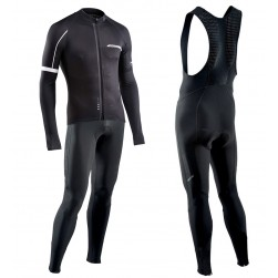 2017 Northwave Blade NW Black Long Sleeve Cycling Jersey And Bib Pants Set