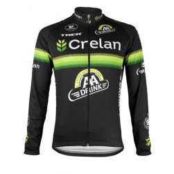 2016 Crelan-AA Drink Black Cycling Long Sleeve Jersey