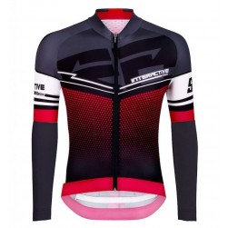 2016 Santini Interactive 3.0 Black-Red Cycling Long Sleeve Jersey