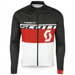 2016 Scott Team Black-Red-White Cycling Long Sleeve Jersey