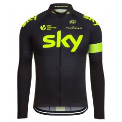 2016 Skу Team Fluo Edition Cycling Long Sleeve Jersey