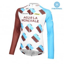2016 Team Ag2r Thermal Cycling Long Sleeve Jersey
