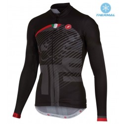 2016 Cаstelli Veleno FZ Black Thermal Cycling Long Sleeve Jersey