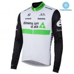 2016 Team Dimension Date White Thermal Cycling Long Sleeve Jersey
