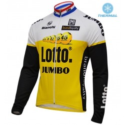 2016 Lotto-Jumbo Yellow Thermal Cycling Long Sleeve Jersey