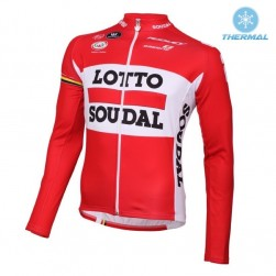 2016 Lotto Soudal Red Thermal Cycling Long Sleeve Jersey