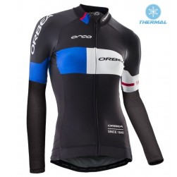 2016 Orbea Pro Women Black-Blue Thermal Cycling Long Sleeve Jersey
