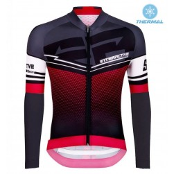 2016 Santini Interactive 3.0 Black-Red Thermal Cycling Long Sleeve Jersey
