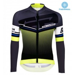 2016 Santini Interactive 3.0 Black-Green Thermal Cycling Long Sleeve Jersey
