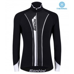 2016 Santini VEGA Black-White Thermal Cycling Long Sleeve Jersey