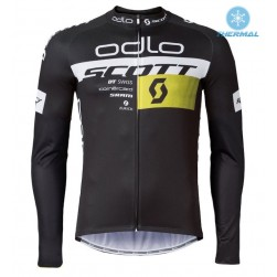 2016 Scott ODLO Team Black Thermal Cycling Long Sleeve Jersey