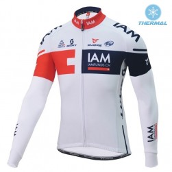 2016 Team IAM White Thermal Cycling Long Sleeve Jersey
