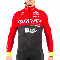 2017 Wilier Pro Team Red-Black Cycling Long Sleeve Jersey