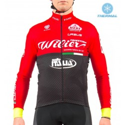 2017 Wilier Pro Team Red-Black Thermal Cycling Long Sleeve Jersey