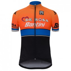 2017 De-Rosa Team Orange-Black Cycling Jersey