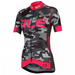 2017 Ale Graphics PRR Camo Women's Black-Pink Cycling Jersey
