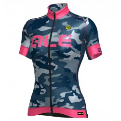 2017 Ale Graphics PRR Camo Women's Blue-Pink Cycling Jersey