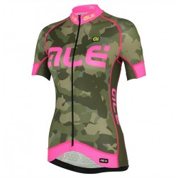2017 Ale Graphics PRR Camo Women's Green-Pink Cycling Jersey
