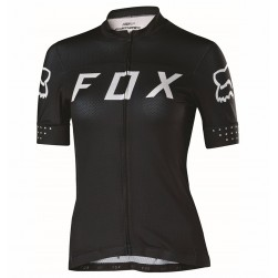 2017 Team FOX Women's Black-White Cycling Jersey