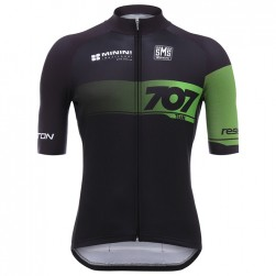 2017 Team 707 Black And Green Cycling Jersey