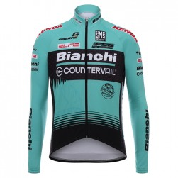 2017 Bianchi Countervail Green Long Sleeve Cycling Jersey
