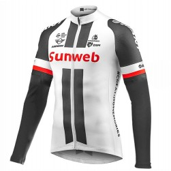 2017 Team Sunweb Giant White Long Sleeve Cycling Jersey