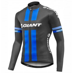 2017 Team Giant Black-Blue Long Sleeve Cycling Jersey