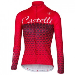 2017 Cаstelli Ciao Red Women Long Sleeve Cycling Jersey