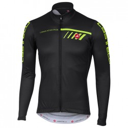 2017 Cаstelli Velocissimo Black-Green Long Sleeve Cycling Jersey