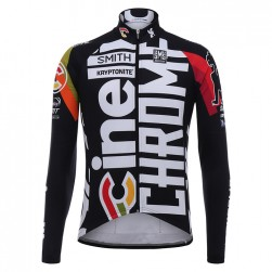 2017 Cinelli Chrome Training Black Long Sleeve Cycling Jersey