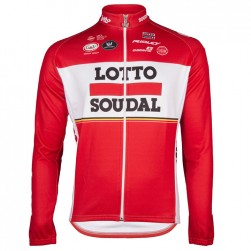 2017 Lotto-Soudal Red Long Sleeve Cycling Jersey