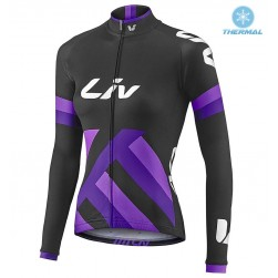 2017 Liv Race Day Women's Black-Purple Thermal Long Sleeve Cycling Jersey