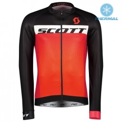2017 Scott RC Black-Red Thermal Long Sleeve Cycling Jersey
