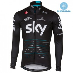 2017 Team Skу Black Thermal Long Sleeve Cycling Jersey