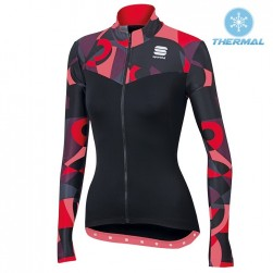 2017 Spоrtful Primavera Red Women Thermal Long Sleeve Cycling Jersey