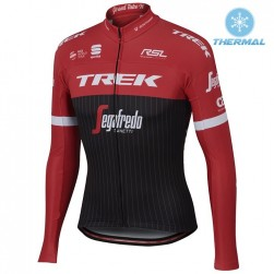 2017 Trek Pro Race Red Thermal Long Sleeve Cycling Jersey