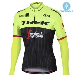 2017 Trek Pro Race Yellow Thermal Long Sleeve Cycling Jersey