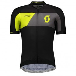 2018 Scott RC Premium Black-Yellow Cycling Jersey