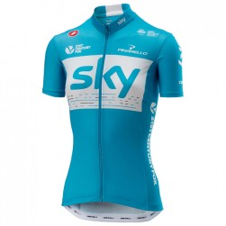 2018 Team Skу Women's Blue Cycling Jersey