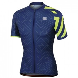 2018 Spоrtful Prizm Blue-Yellow Cycling Jersey