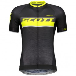 2018 SCOTT RC Black-Yellow Cycling Jersey