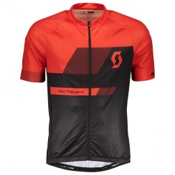 2018 SCOTT-TEAM 1.0 Black-Red Cycling Jersey