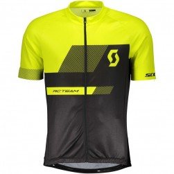 2018 SCOTT-TEAM 1.0 Black-Yellow Cycling Jersey